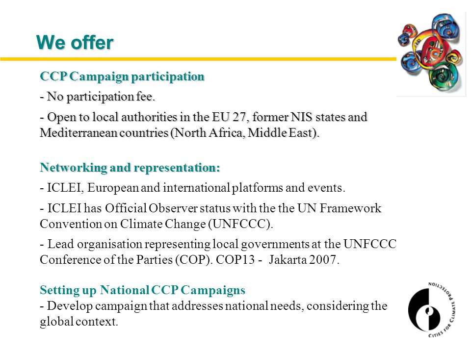 We offer CCP Campaign participation - No participation fee.