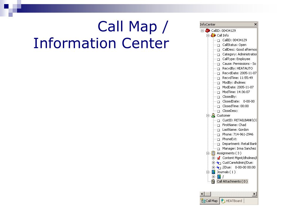 Call Map / Information Center