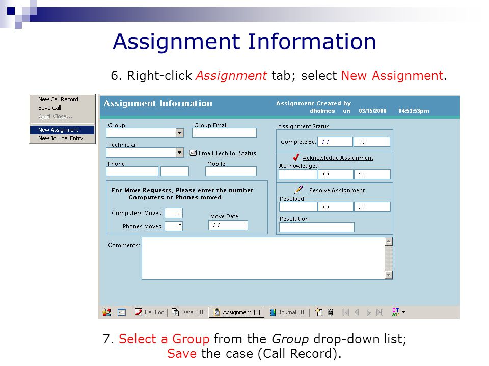 Assignment Information 7.
