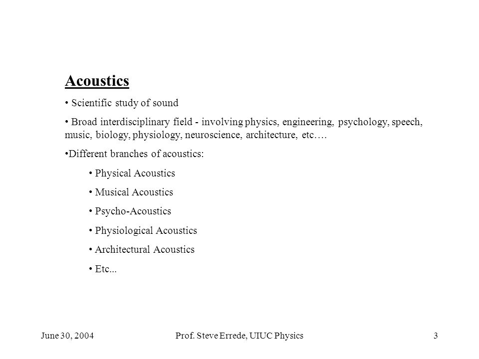 June 30, 2004Prof.Steve Errede, UIUC Physics34 Harmonic Content of the Bassoon: Prof.