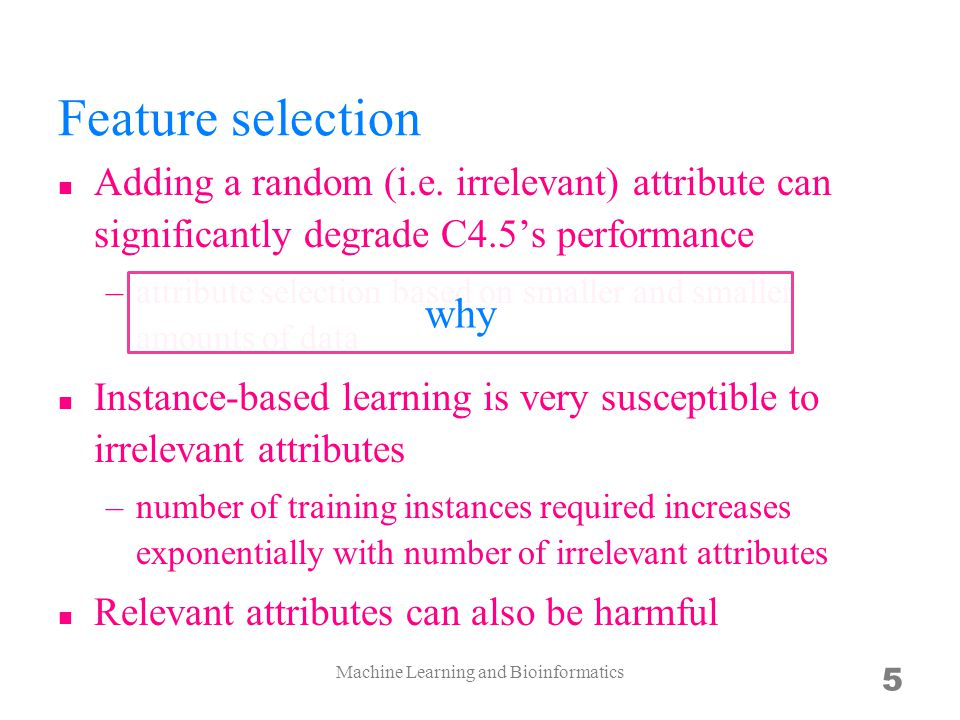 Machine Learning and Bioinformatics 6 What's the difference between theory and practice? an old question asks.