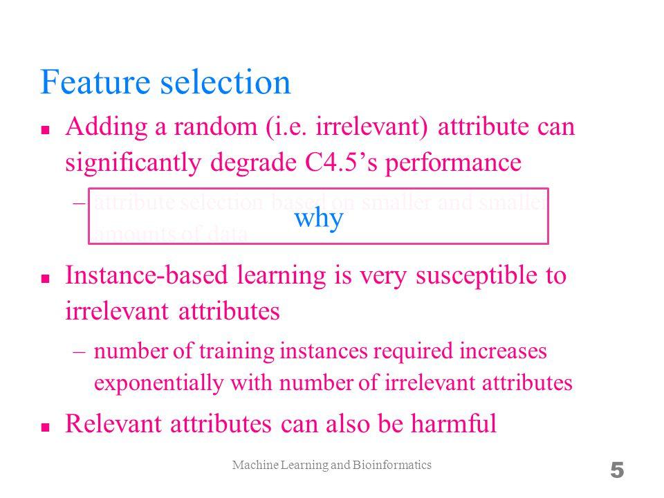 Feature selection Adding a random (i.e.
