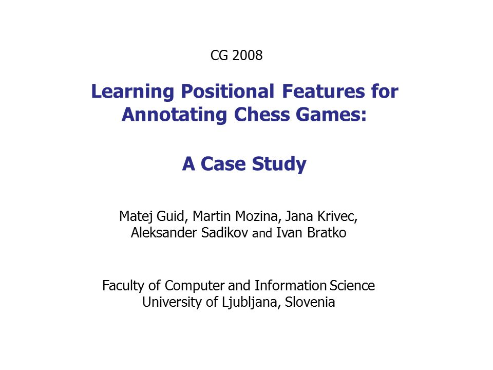 Enhanced Knowledge in Chess Programs  The improvements of Rybka 3 in evaluation function for chess middlegames: understanding good and bad bishops, much more advanced understanding of kings attacks, importance of defending king by pieces, space (previously addresed only indirectly) (Larry Kaufmann, designer of Rybka's evaluation function, RybkaForum.net) How to teach a program to recognise chess concepts.