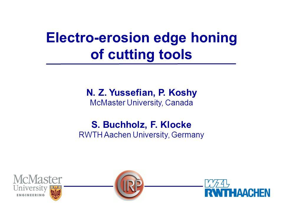 12/20 Electro-erosion edge honing of cutting tools N.Z.