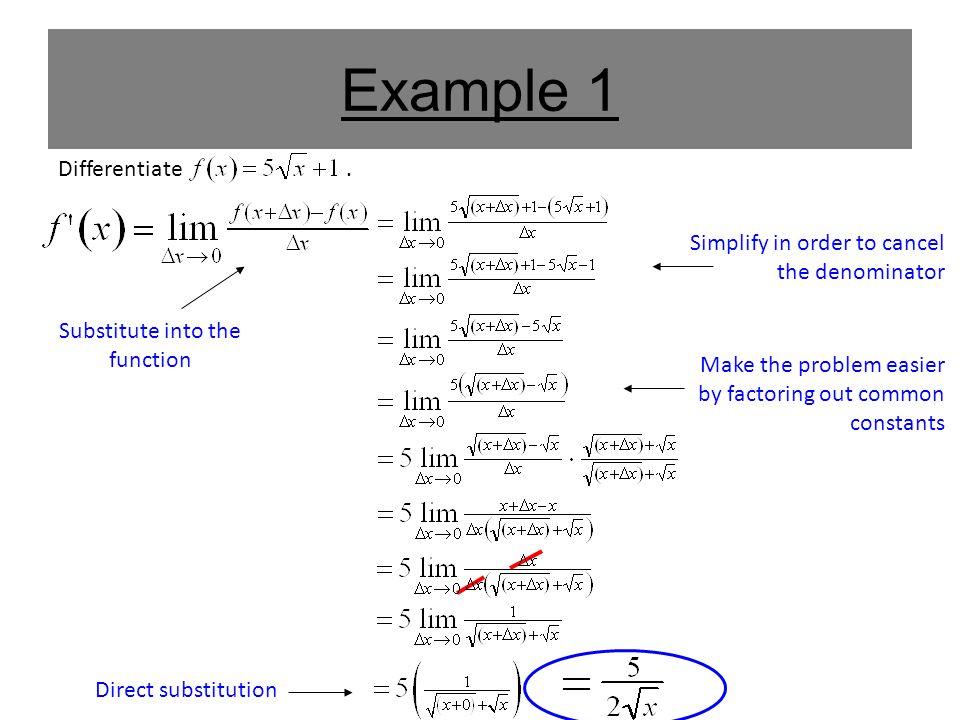 Example 1 Differentiate.