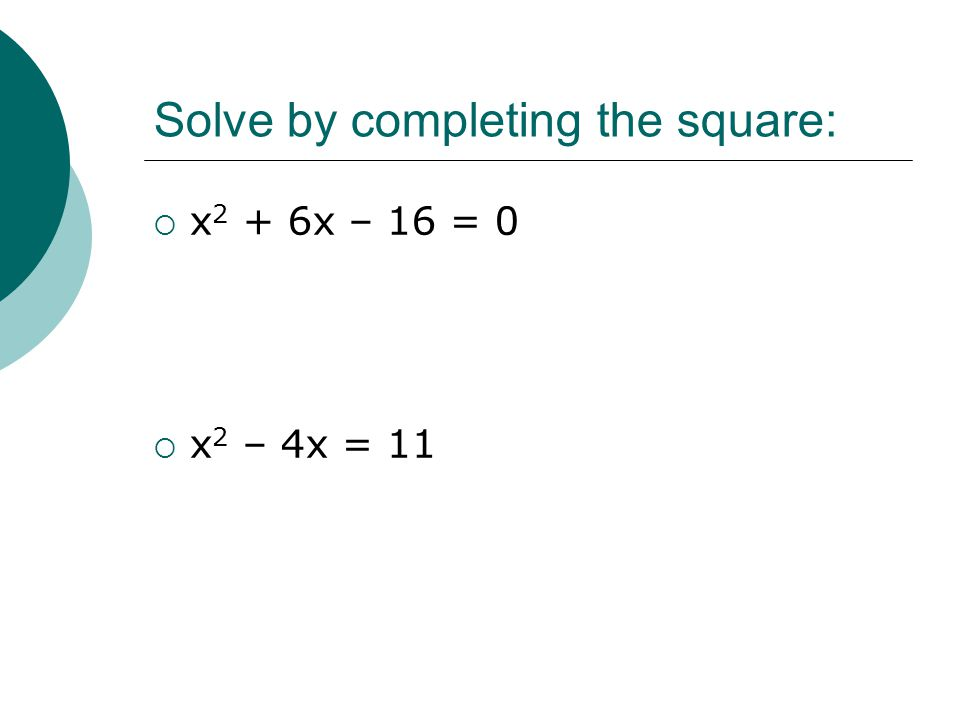 Write the equation in standard form for the given circle: