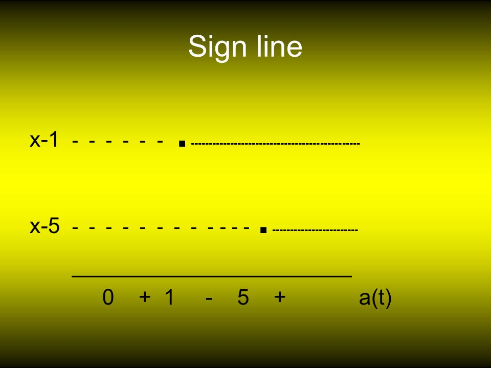 Sign line x-1 - - - - - -.