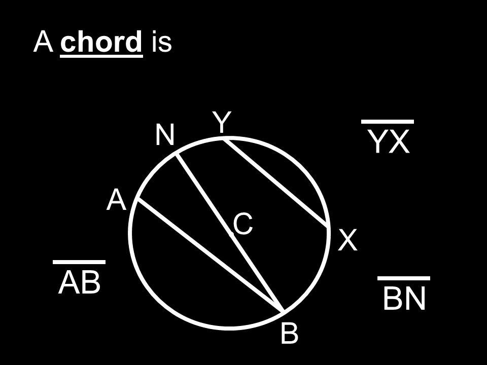 C A secant is A B X Y YX AB