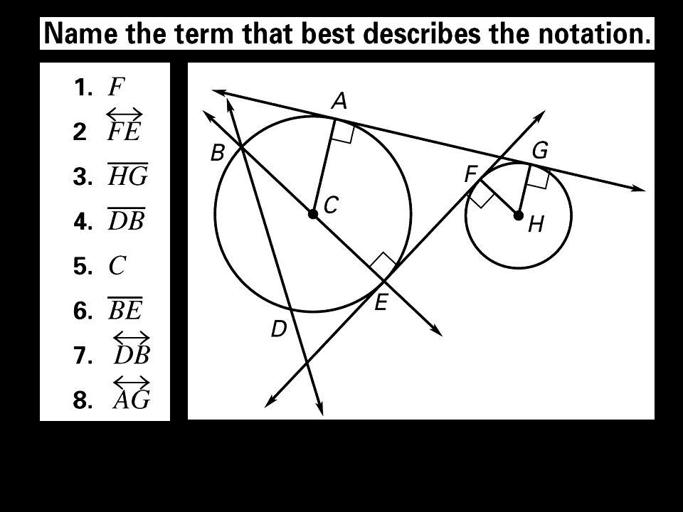 7. Is AB a diameter? A B