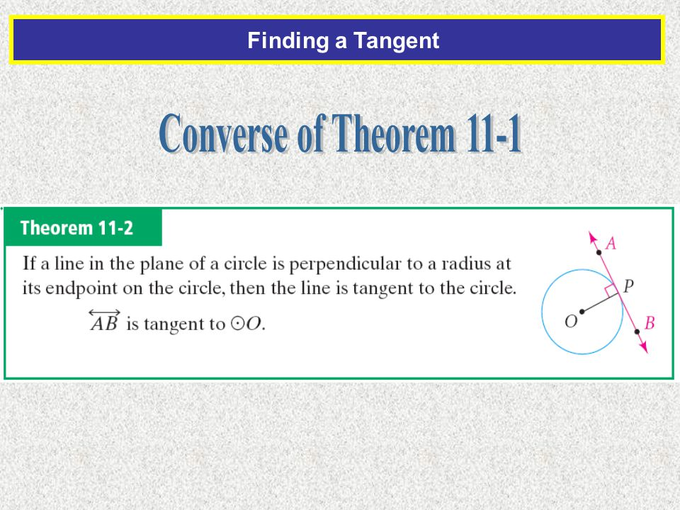 Finding a Tangent