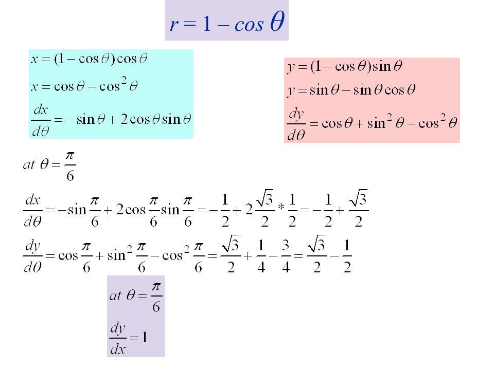 r = 1 – cos θ