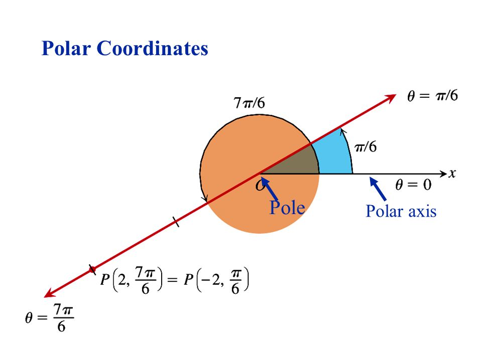 Figure 9.37. Pole Polar axis Polar Coordinates