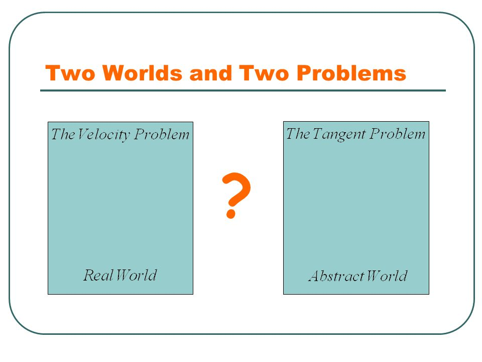 Two Worlds and Two Problems ?