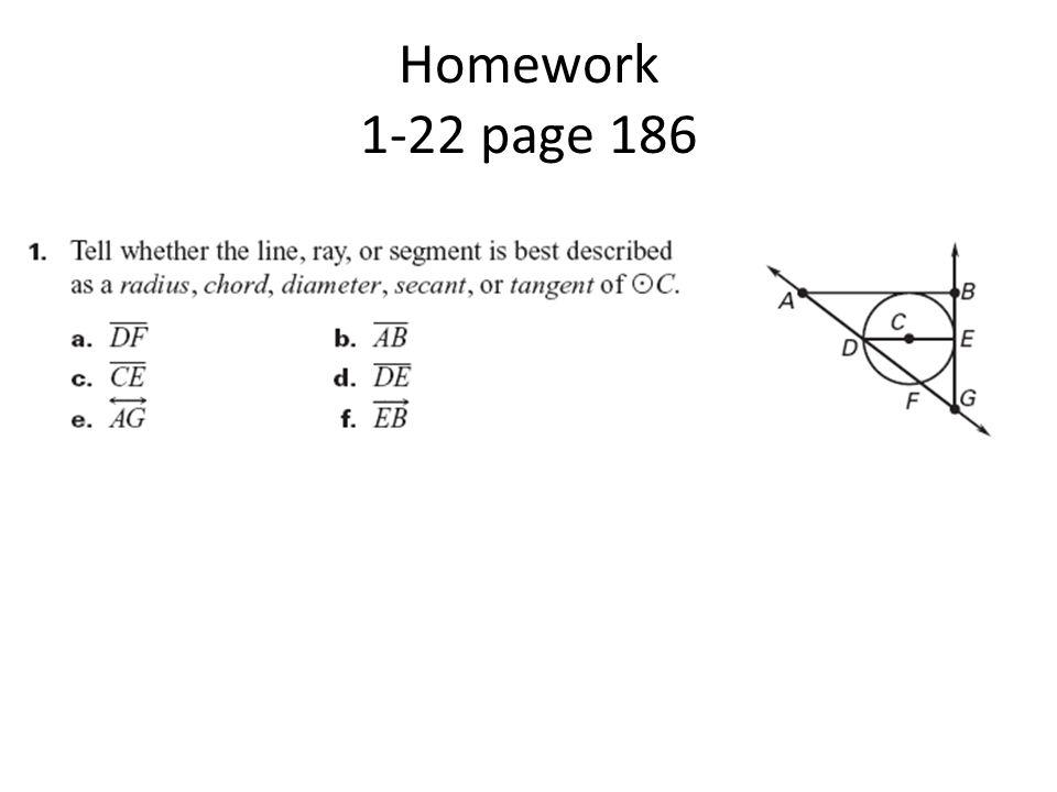 Homework 1-22 page 186