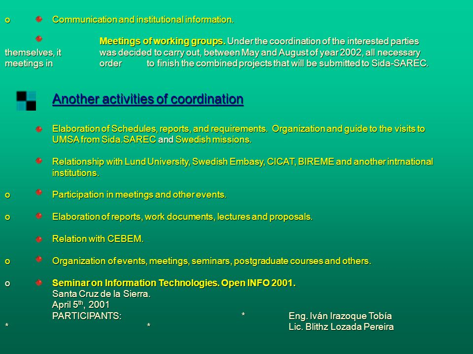 Course on Planification and Management of the Science, Technology and Innovation .