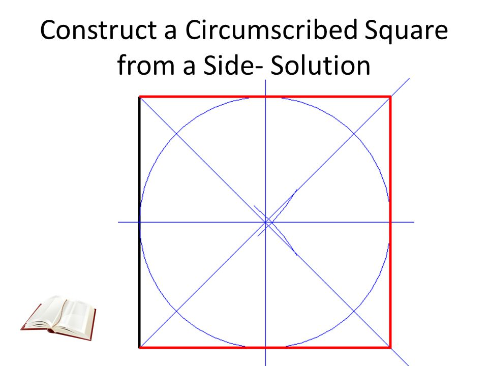 Construct a Circumscribed Square from a Side- Solution