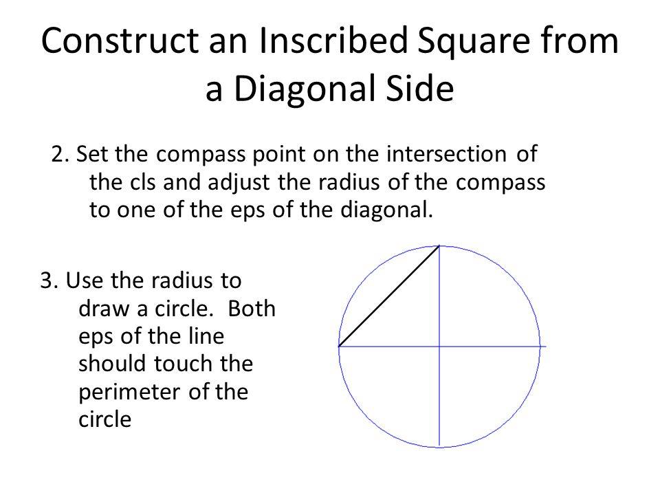 Construct an Inscribed Hexagon to a Given Circle 4.