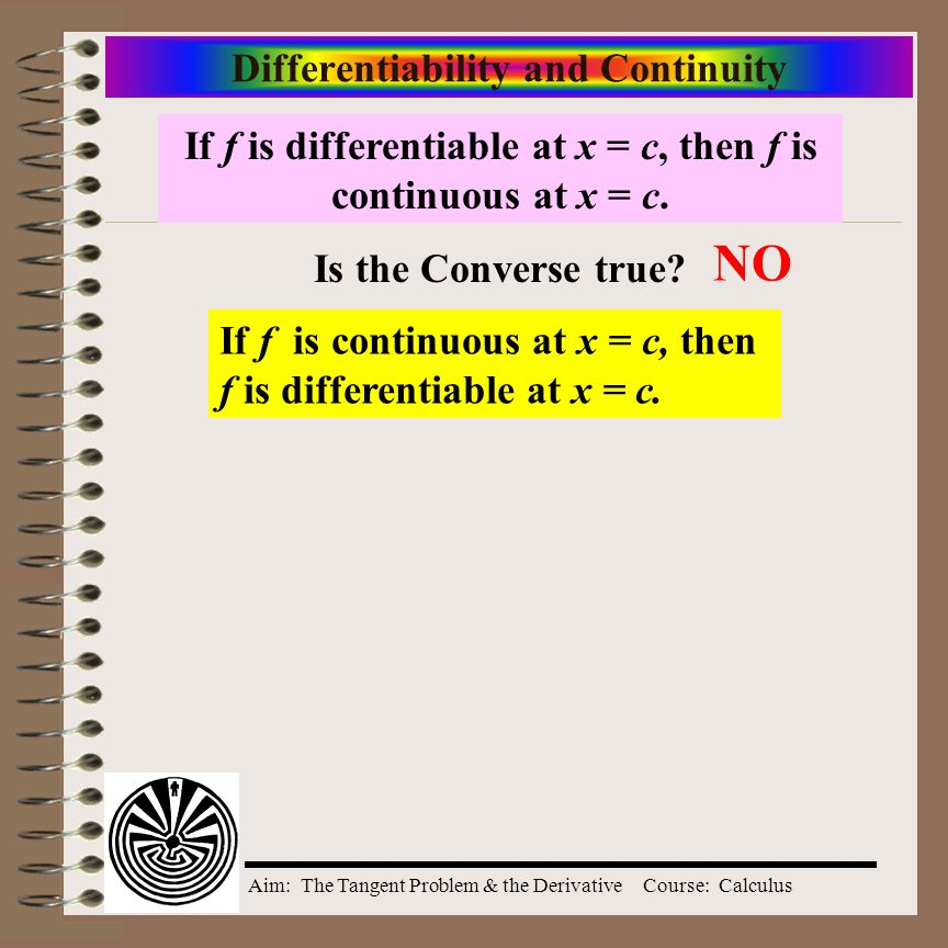 Aim: The Tangent Problem & the DerivativeCourse: Calculus Differentiability and Continuity Does this step function, the greatest integer function, have a limit at 1.