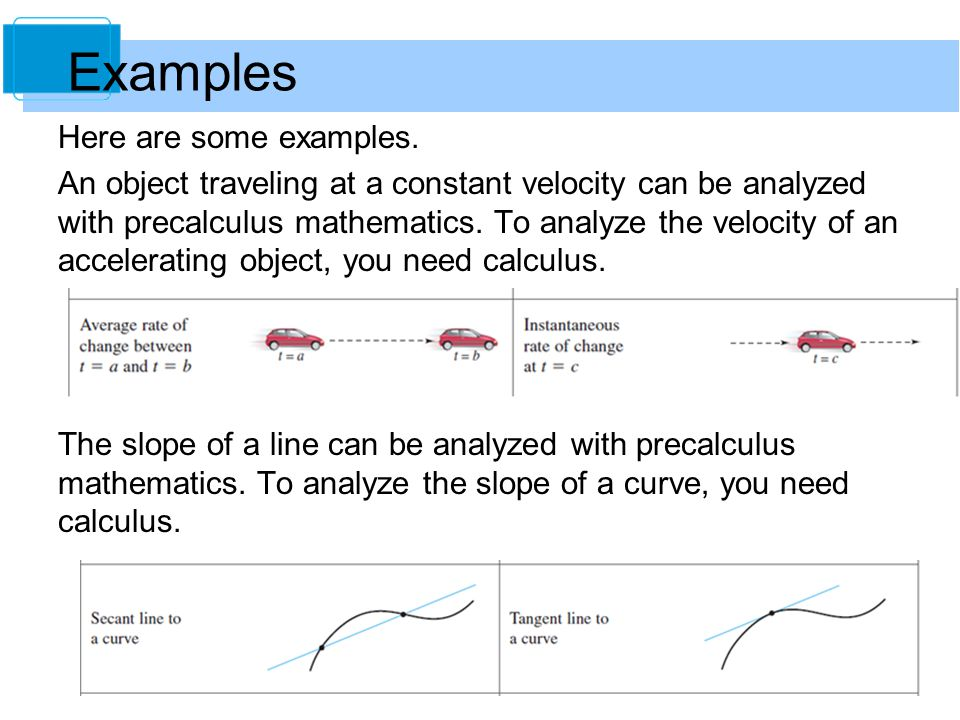 7 The curvature of a circle is constant and can be analyzed with precalculus mathematics.