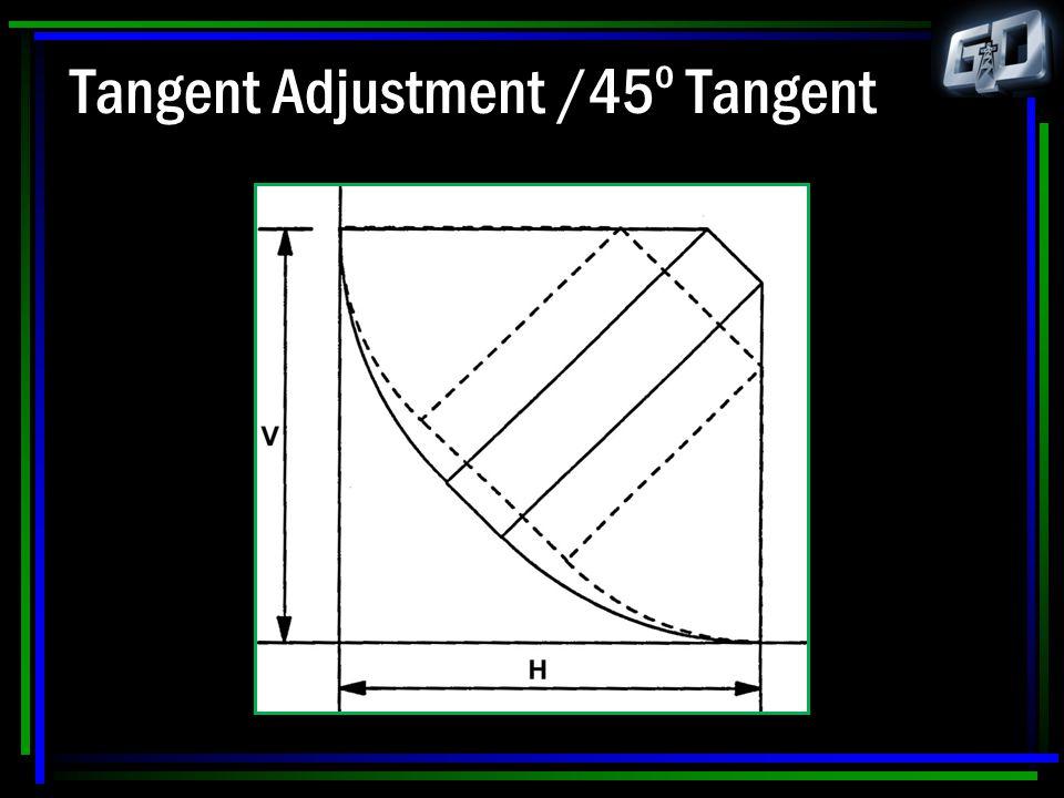 Tangent Adjustment /45 o Tangent