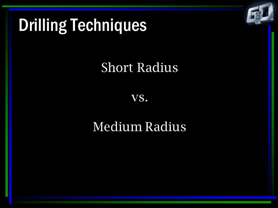 Drilling Techniques Short Radius vs. Medium Radius