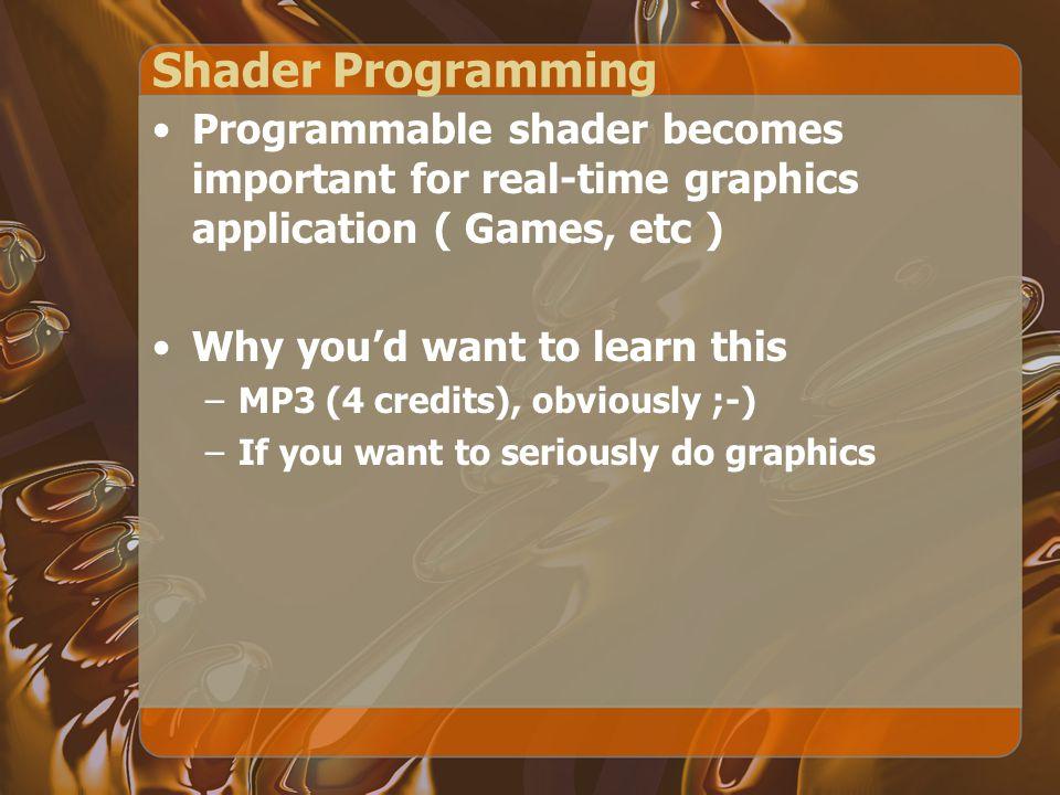 Setup Program glLinkProgram(int program glLinkProgram(int program) Link shader objects in a program.