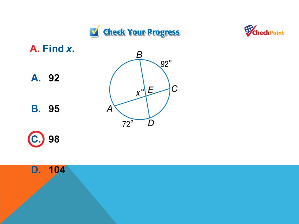 EXAMPLE 4 Apply Properties of Intersecting Secants