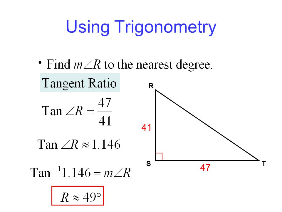 Using Trigonometry ST R 41 47