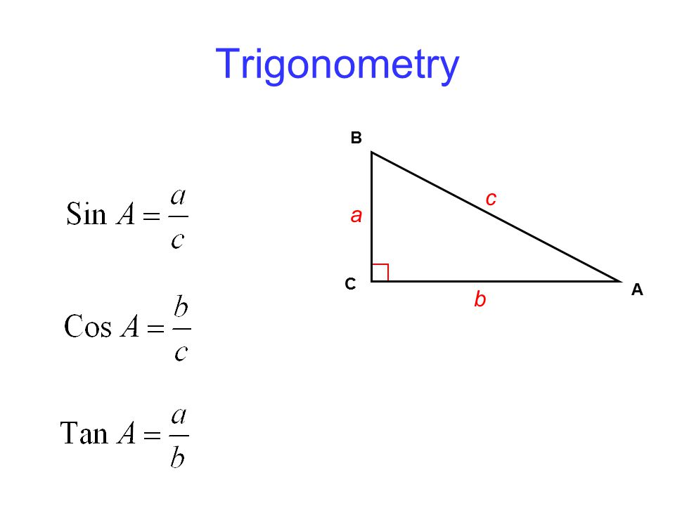 Trigonometry C A B a b c
