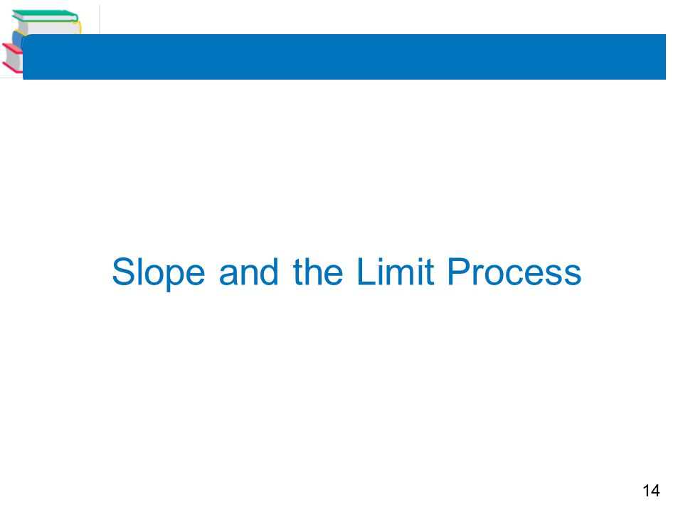 14 Slope and the Limit Process