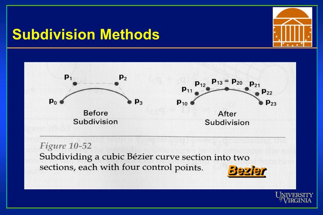 Subdivision Methods Bezier