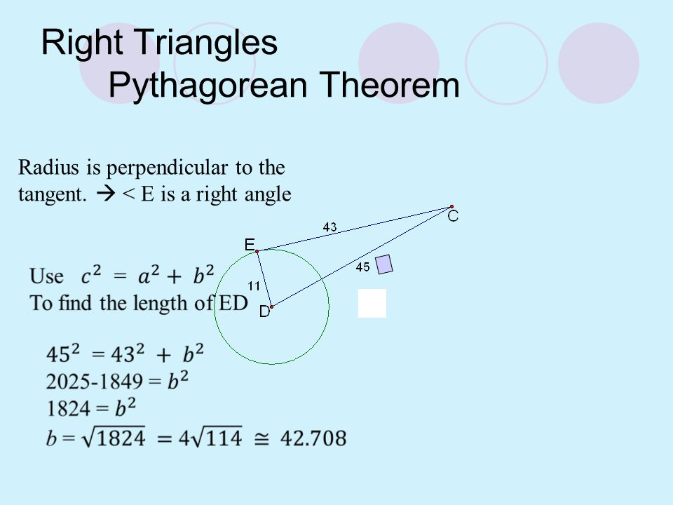 Perpendicular Diameter Theorem If a diameter of a circle is perpendicular to a chord, then the diameter bisects the chord and its arc.