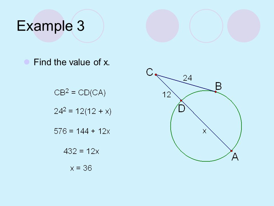 Try This! Find the value of x.