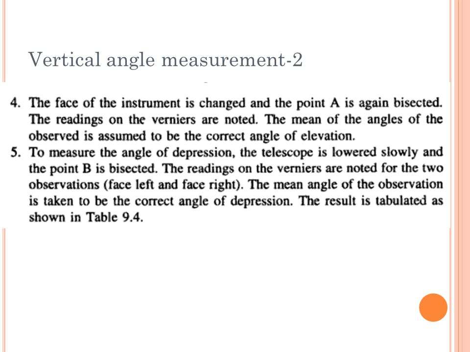 Vertical angle measurement-2