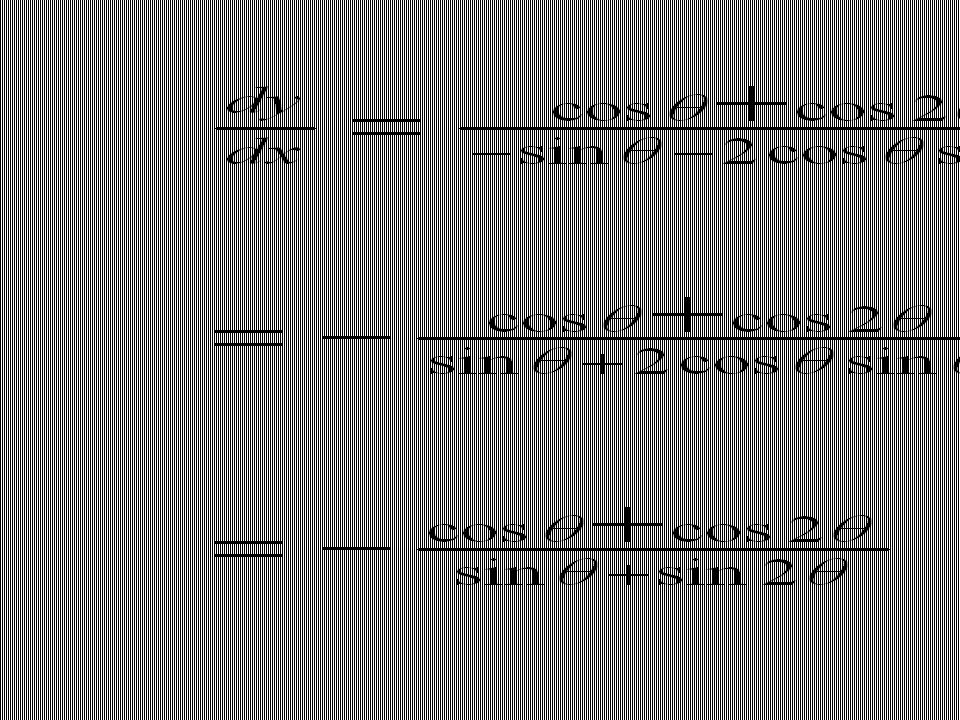 2.2. The slope of the tangent at the point ( 1, π/2) is equal to: