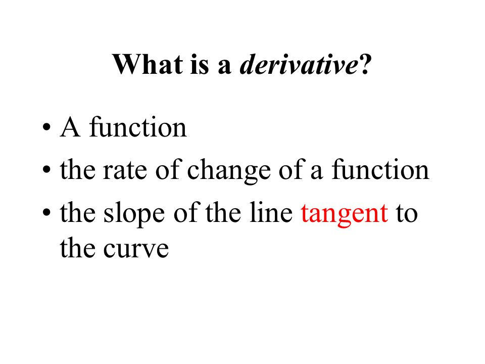 What is a derivative.