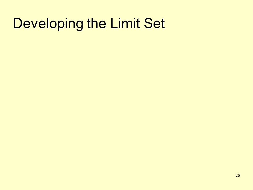 28 Developing the Limit Set