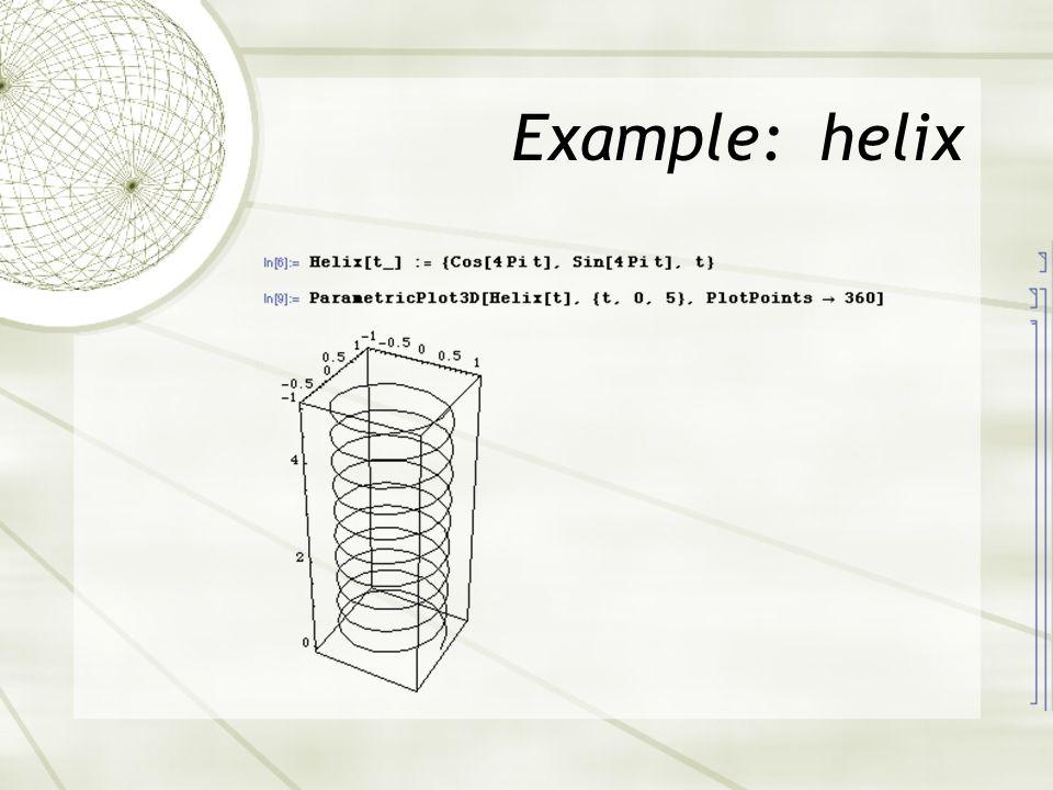 Example: helix