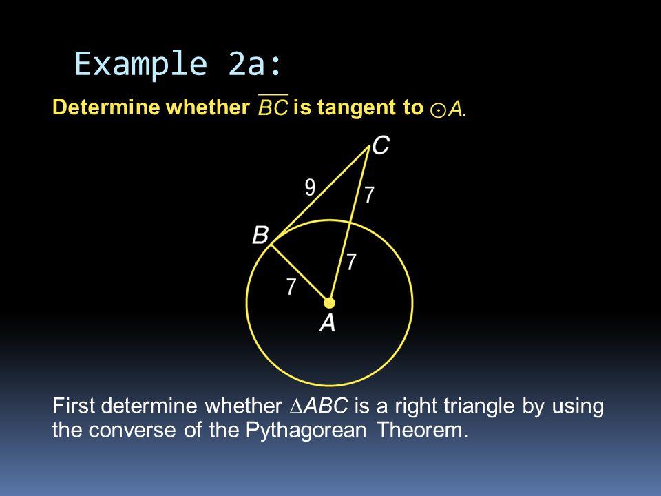 Pythagorean Theorem Simplify.