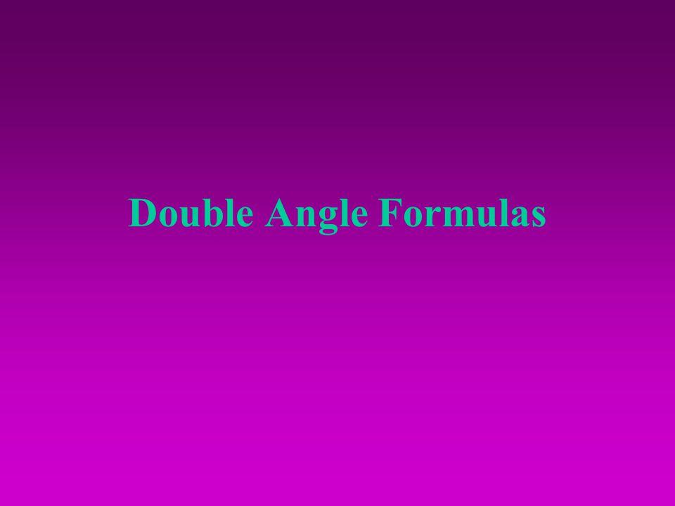 Double Angle Formulas