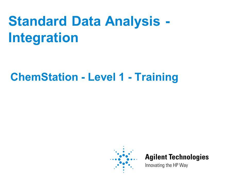 Standard Data Analysis - Integration ChemStation - Level 1 - Training