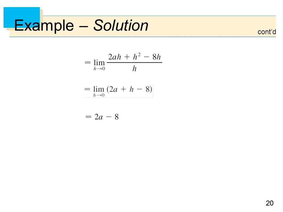 20 Example – Solution cont'd