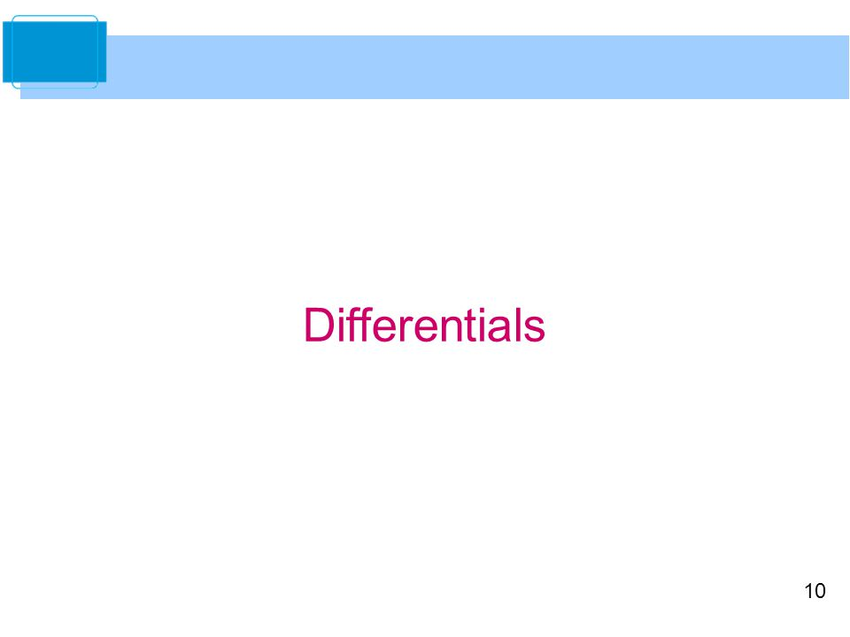 10 Differentials