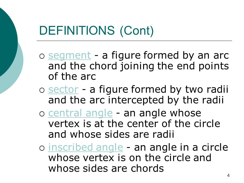 5 CIRCUMFERENCE  The circumference of a circle is equal to  times the diameter or 2 times the radius C = d or C = 2r  Find the circumference of a circle whose diameter is 3 ft.