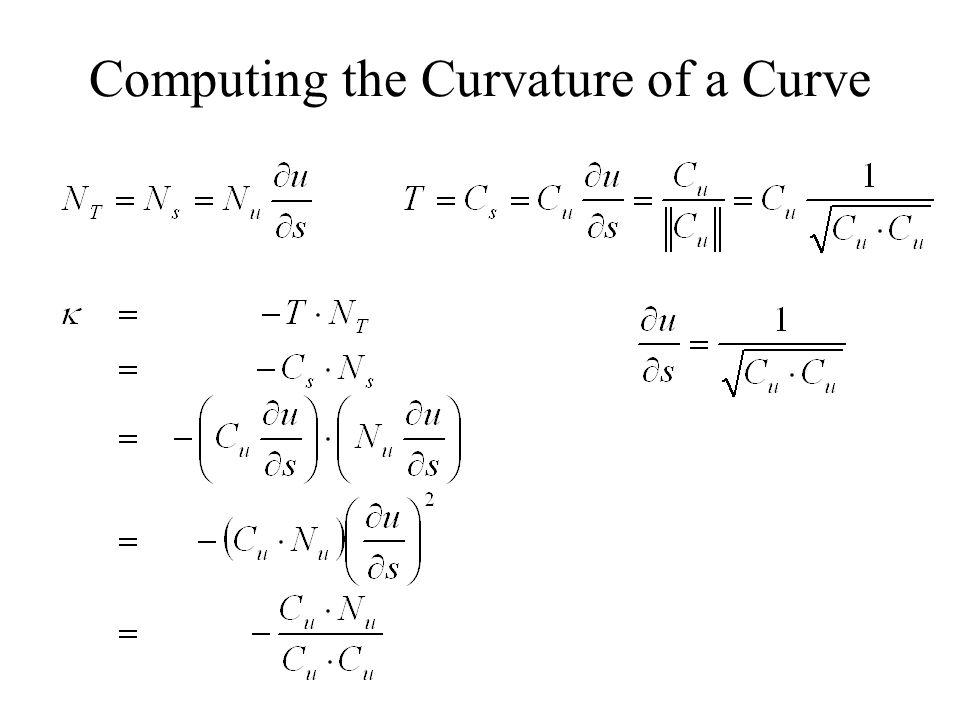 Change of Coordinates p SsSs StSt SuSu SvSv a b θ First Fundamental Form