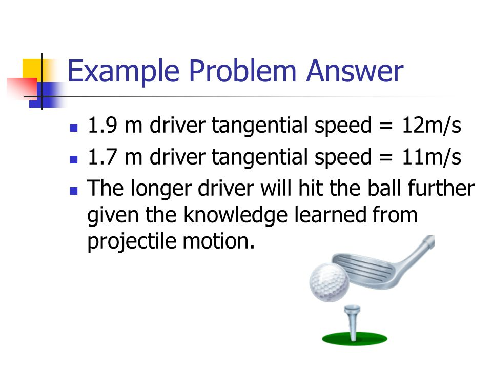 Example Problem A cylindrical space station with a 115, radius rotates around its longitudinal axis at and angular speed of 0.292 rad/s.
