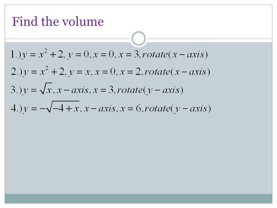 Find the volume