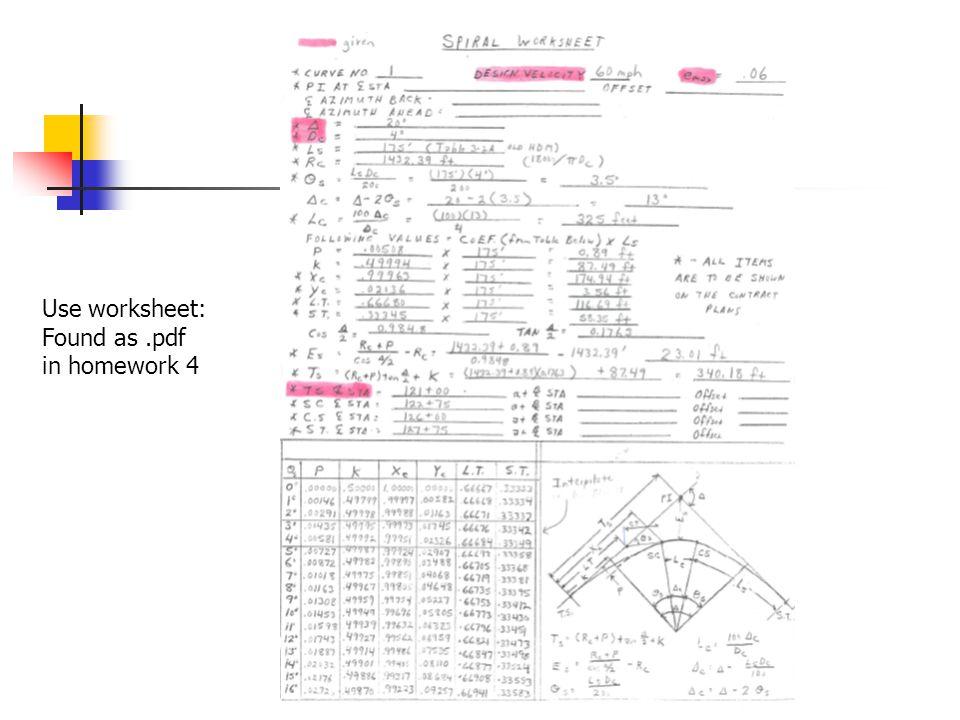 Use worksheet: Found as.pdf in homework 4