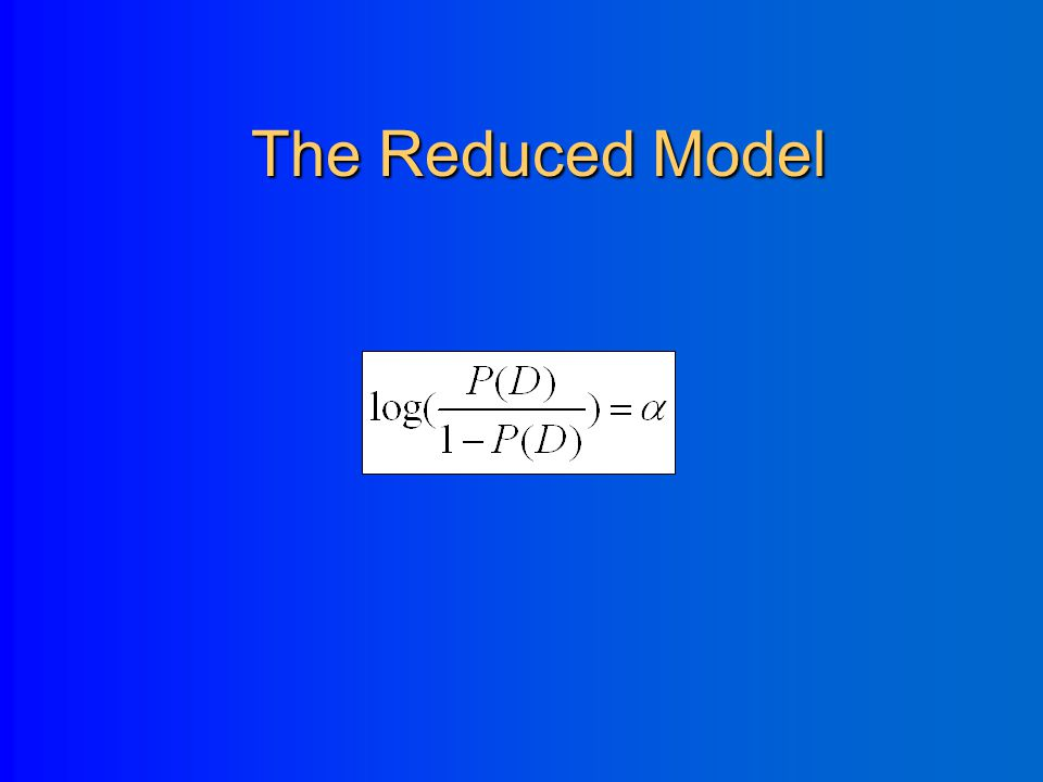 Hypothesis Testing H 0 :  =0 2. What is the Likelihood Ratio test here? – Full model = includes age variable – Reduced model = includes only intercep