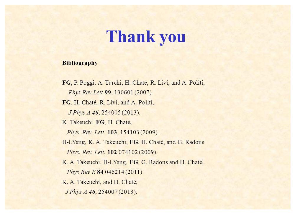 Bibliography FG, P. Poggi, A. Turchi, H. Chaté, R.